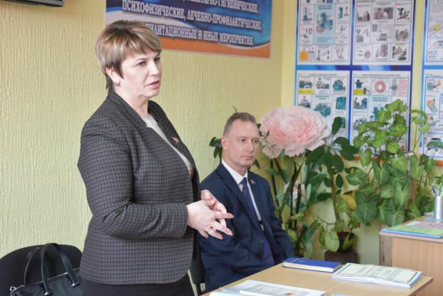 Жанна Чернявская с рабочим визитом посетила Брагинский район