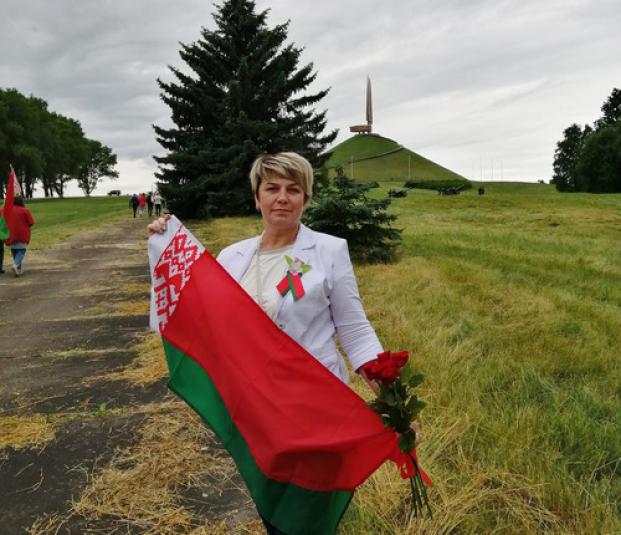Жанна Чернявская принимает участие в торжественных мероприятиях у Кургана Славы