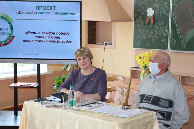 Парламентарий Жанна Чернявская - гость проекта «ШАГ» в Судковской школе